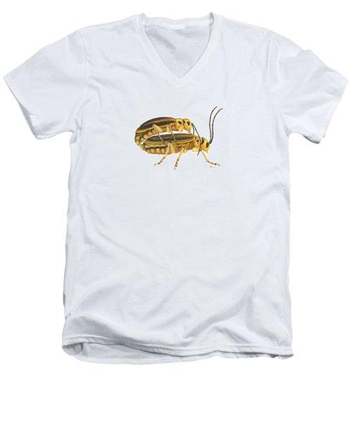 Chrysomelid Beetle Mating Pose Men's V-Neck T-Shirt