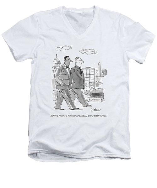 Before I Became A Black Conservative Men's V-Neck T-Shirt