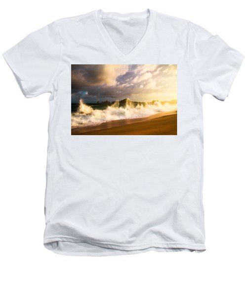 Men's V-Neck T-Shirt featuring the photograph Before The Storm by Eti Reid