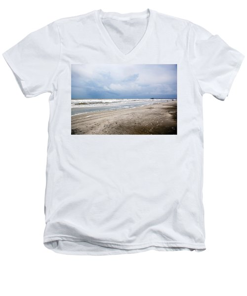 Men's V-Neck T-Shirt featuring the photograph Before The Storm by Sennie Pierson