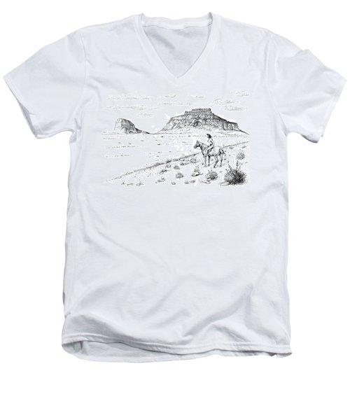 Open Prairie Overlook Men's V-Neck T-Shirt