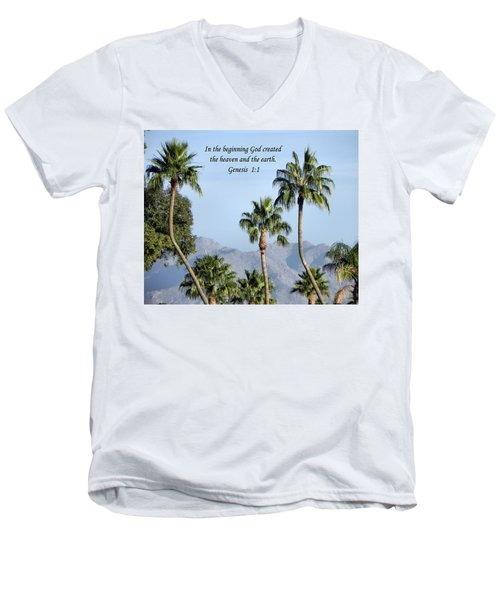 Men's V-Neck T-Shirt featuring the photograph Beginning by Deb Halloran