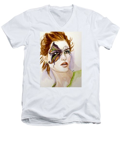 Behind The Mask Men's V-Neck T-Shirt