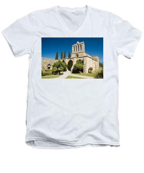 Bellapais Abbey Kyrenia Men's V-Neck T-Shirt