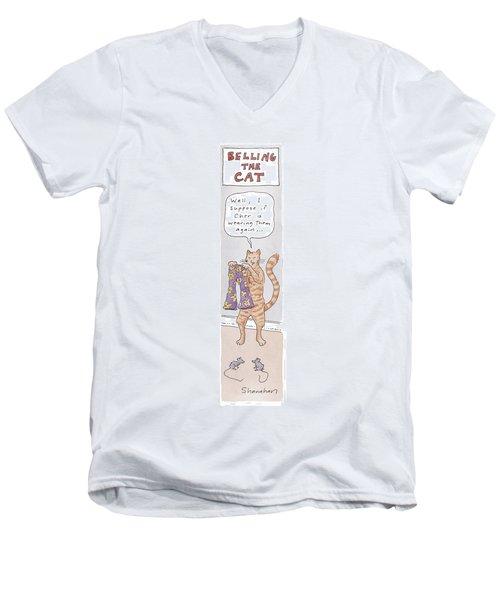 Belling The Cat 'well Men's V-Neck T-Shirt