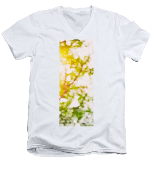 Beneath A Tree  14 5194  Diptych  Set 2 Of 2 Men's V-Neck T-Shirt