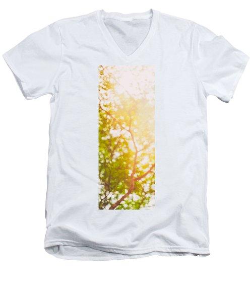 Beneath A Tree  14 5199   Diptych  Set 1 Of 2 Men's V-Neck T-Shirt