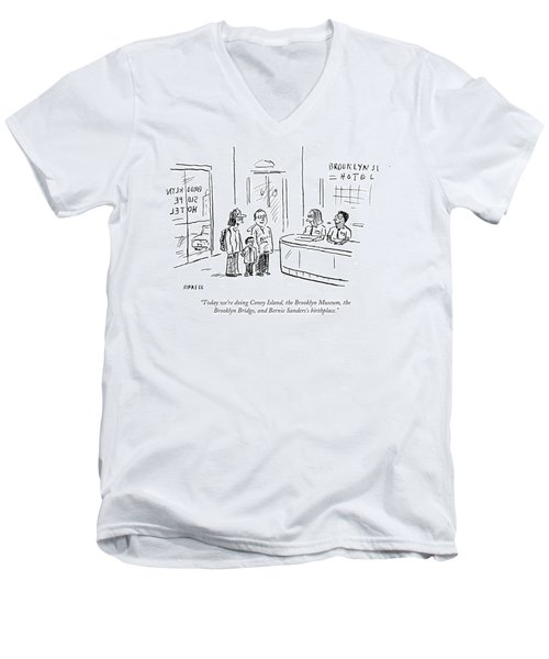 Bernie Sanders's Birthplace Men's V-Neck T-Shirt