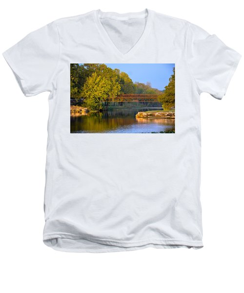 Berry Creek Bridge Men's V-Neck T-Shirt