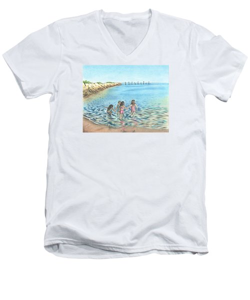 Best Friends Men's V-Neck T-Shirt by Troy Levesque