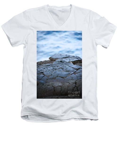 Men's V-Neck T-Shirt featuring the photograph Between You And Me by Ellen Cotton