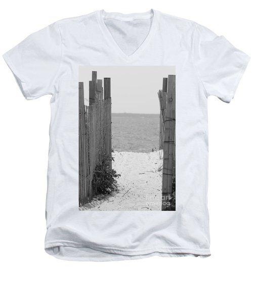 Beyond The Dunes Bw Men's V-Neck T-Shirt