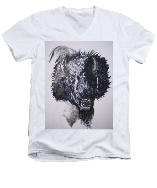 Big Bad Buffalo Men's V-Neck T-Shirt
