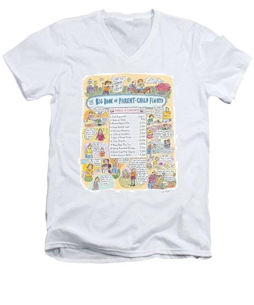 'big Book Of Parent-child Fights' Men's V-Neck T-Shirt