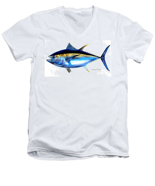 Big Eye Tuna Men's V-Neck T-Shirt by Carey Chen