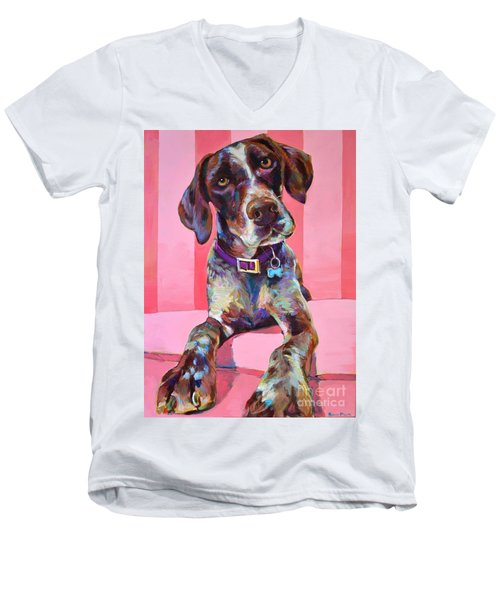 Men's V-Neck T-Shirt featuring the painting Big Hank by Robert Phelps