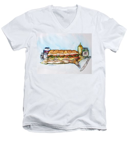 Big Ol Samich Men's V-Neck T-Shirt
