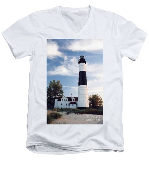 Big Sable Lighthouse Men's V-Neck T-Shirt