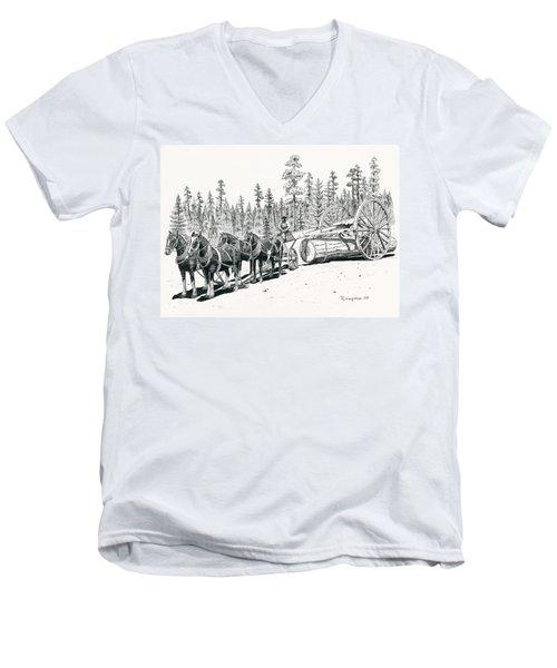 Big Wheels Men's V-Neck T-Shirt