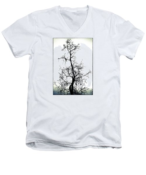 Men's V-Neck T-Shirt featuring the photograph Bird In The Branches by Caitlyn  Grasso
