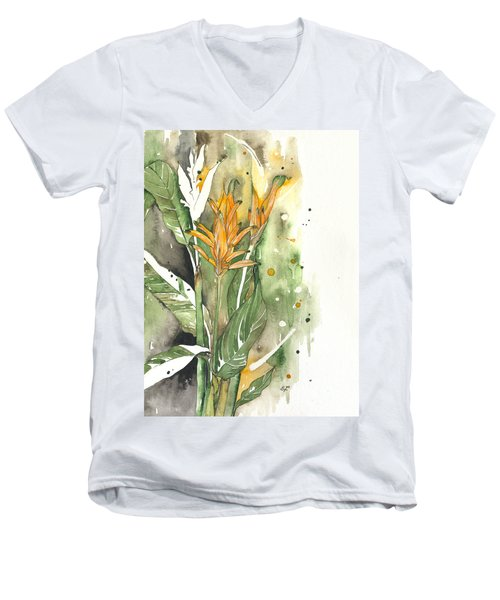 Bird Of Paradise 08 Elena Yakubovich  Men's V-Neck T-Shirt by Elena Yakubovich