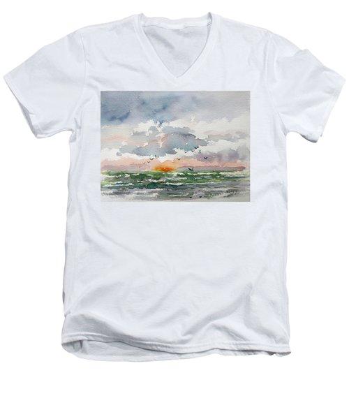 Birds Rising IIi Men's V-Neck T-Shirt