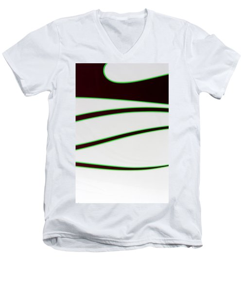 Men's V-Neck T-Shirt featuring the photograph Black And Green by Joe Kozlowski