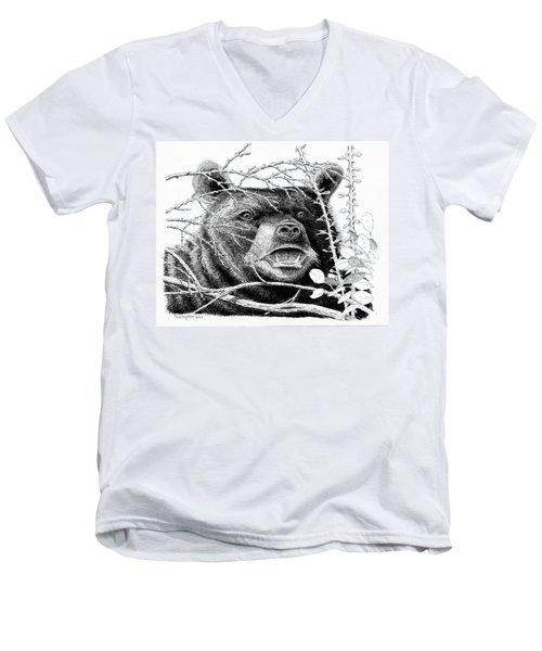 Black Bear Boar Men's V-Neck T-Shirt