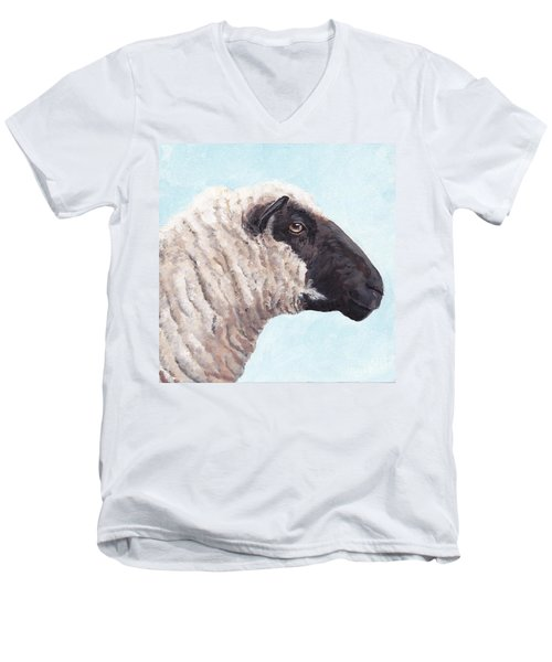 Black Face Sheep Men's V-Neck T-Shirt