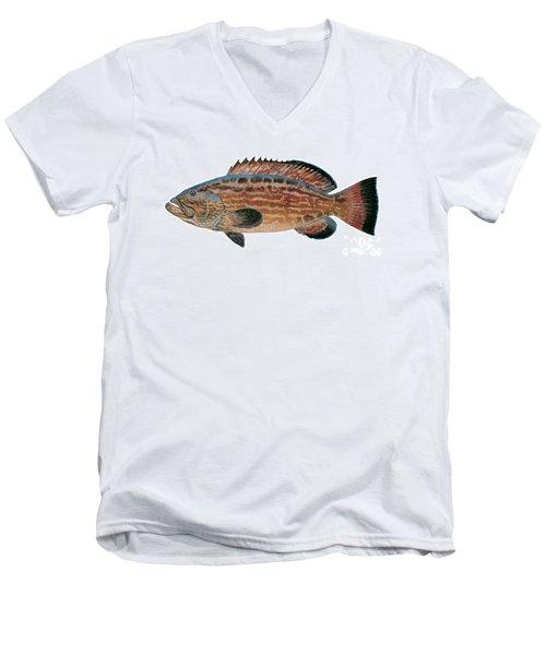 Black Grouper Men's V-Neck T-Shirt