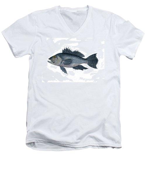 Black Sea Bass 3 Men's V-Neck T-Shirt