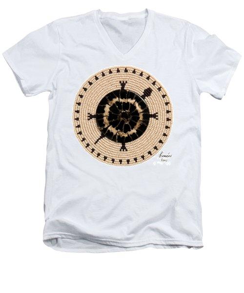 Black Shell Men's V-Neck T-Shirt
