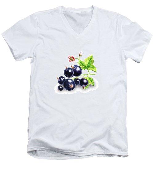Blackcurrant Still Life Men's V-Neck T-Shirt by Irina Sztukowski