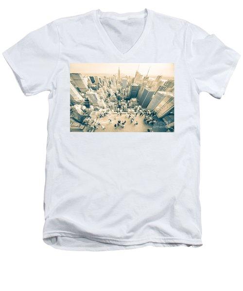 Bleached Manhattan Men's V-Neck T-Shirt