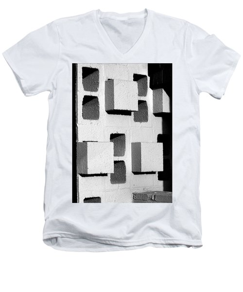 Blocks Men's V-Neck T-Shirt