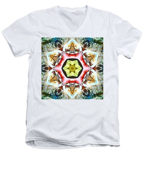 Blooming Fibonacci Men's V-Neck T-Shirt