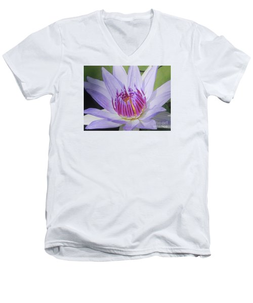 Men's V-Neck T-Shirt featuring the photograph Blooming For You by Chrisann Ellis