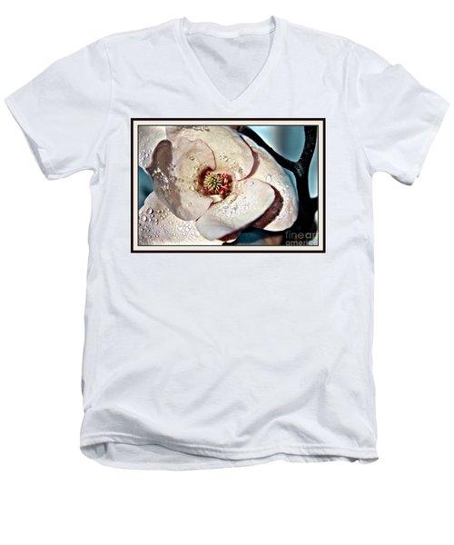 Blooming Magnolia Men's V-Neck T-Shirt