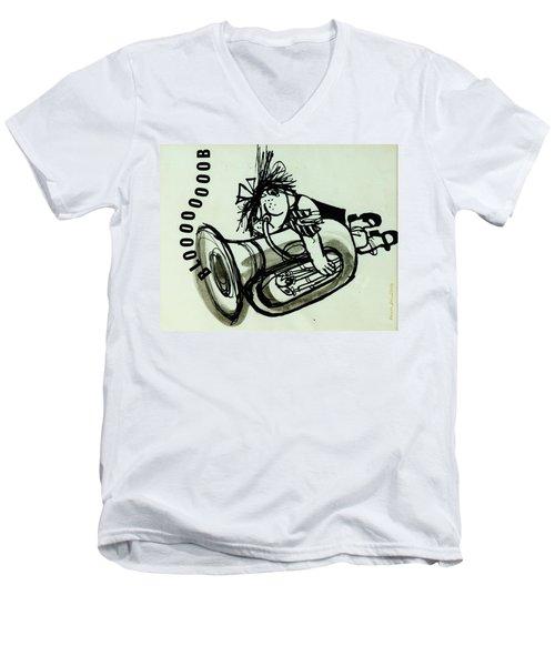 Blooooob! Ink On Paper Men's V-Neck T-Shirt