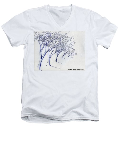 Blowing Trees Men's V-Neck T-Shirt
