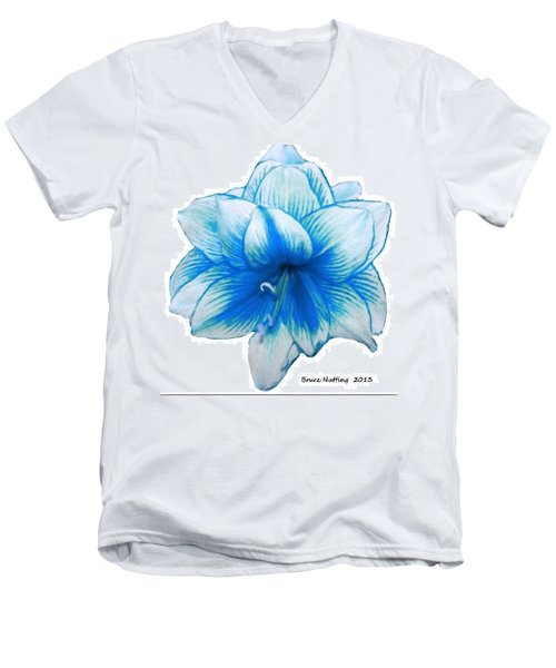 Blue Amaryllis Men's V-Neck T-Shirt