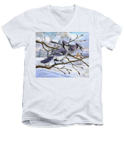 Blue Bandits Winter Afternoon Men's V-Neck T-Shirt