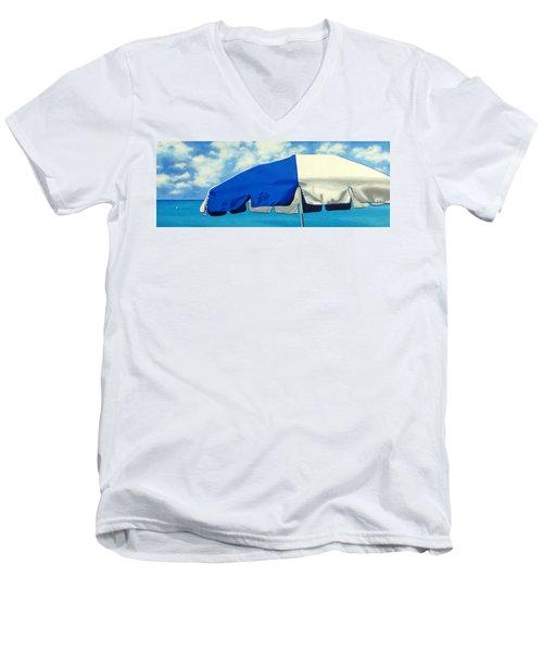 Blue Beach Umbrellas 1 Men's V-Neck T-Shirt