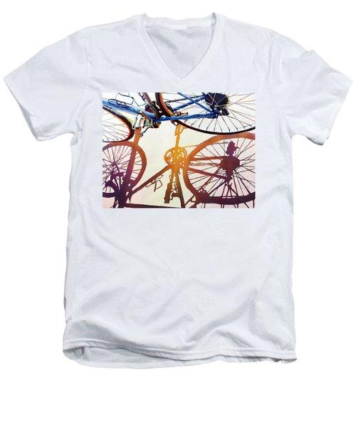 Blue Bike Men's V-Neck T-Shirt