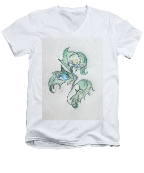 Blue Blossom 2 Men's V-Neck T-Shirt