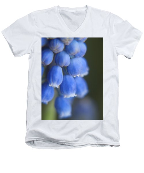 Blue Blossoms Men's V-Neck T-Shirt