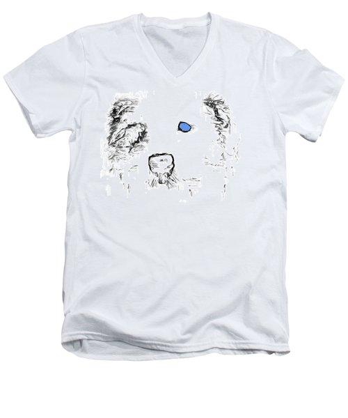 Blue Eyed Pup Men's V-Neck T-Shirt