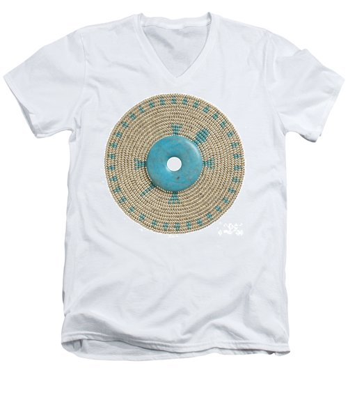 Blue Howlite Men's V-Neck T-Shirt
