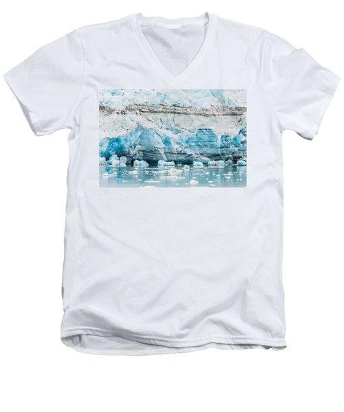 Blue Ice Men's V-Neck T-Shirt by Melinda Ledsome