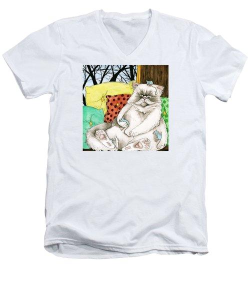 Blue Mice Men's V-Neck T-Shirt